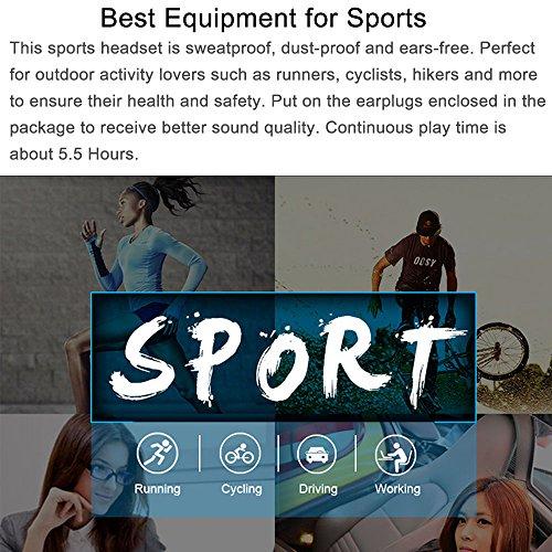 Bone Conduction Headphones,Vipwind Bone Conduction Wireless Bluetooth Headset Sport Gym Waterproof Earphones Built in Mic for iPhone X 8 8plus 7 7plus 6S Samsung Galaxy S7 S8 IOS Android Smart Phones