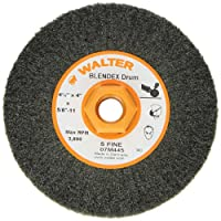 "Walter Blendex Linear Finishing Abrasive Drum, 3800 Maximum RPM, 4-1/2"" Diameter x 4"" Width, 5/8""-11 Arbor, Grit Super Fine"