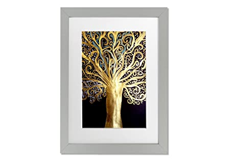 Living Colors Modern Gustav Klimt Tree Of Life A3 Framed Art Print ...
