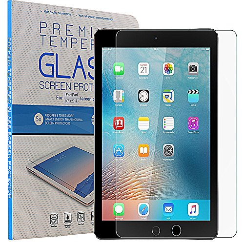 iPad 9.7 inch (2017) Premium Tempered Glass Screen Protector, AICase Anti-Scratch, Anti-Fingerprint, Bubble Free, Apple Pencil - Can Glass Remove To Scratches Be Polished