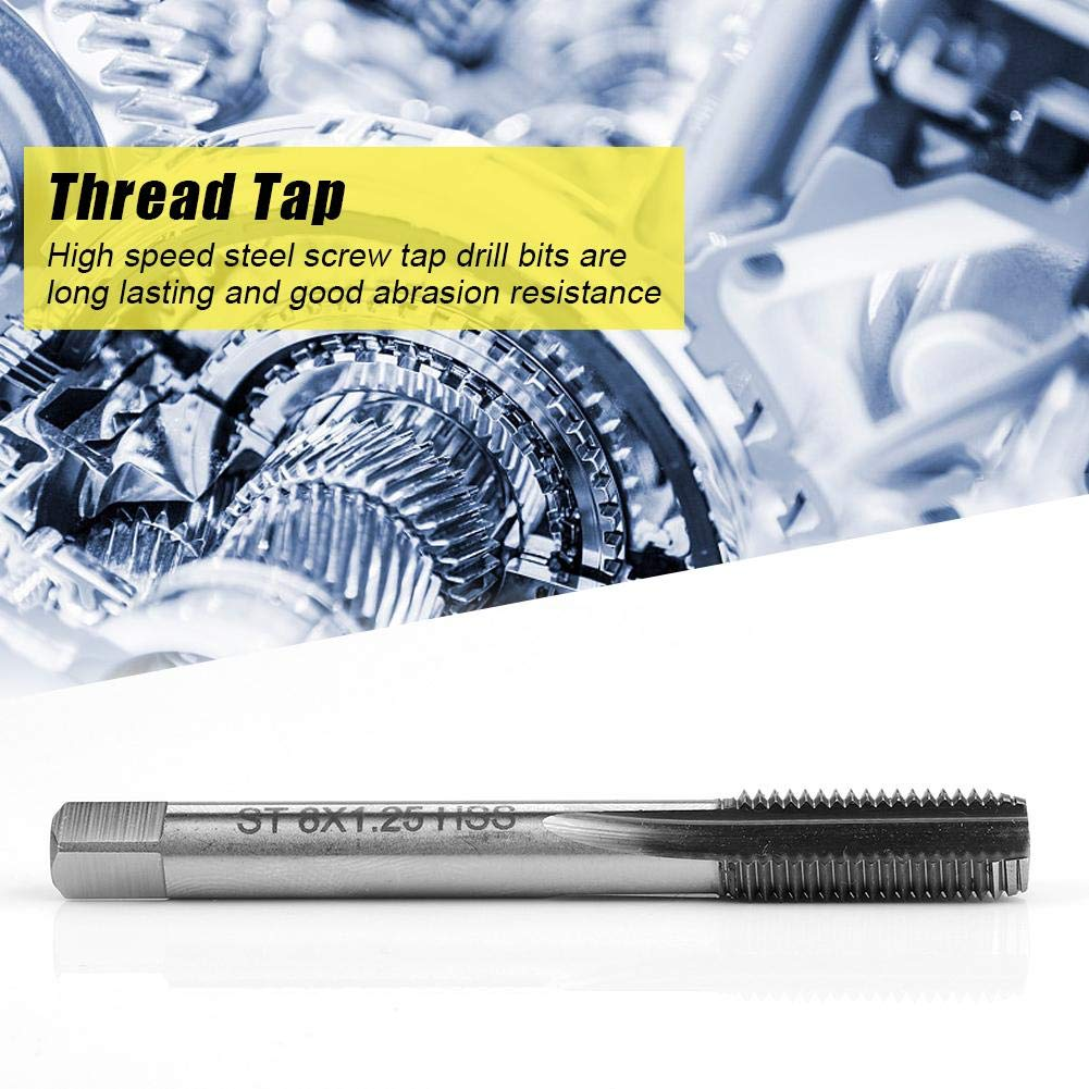 Thread Tap Aluminum Shee for Soft Metal 1pcsST81.25HSS Repair Tool Straight Flute Tap