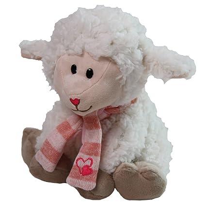 Amazon Com Snuggle Stuffs Peach Cream Lamb Chop Sitting Stuffed