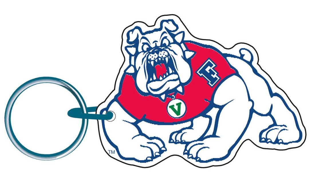 WinCraft Bundle 2 Items: Fresno State Bulldogs 1 Auto Badge Decal and 1 Premium Key Ring by WinCraft (Image #3)