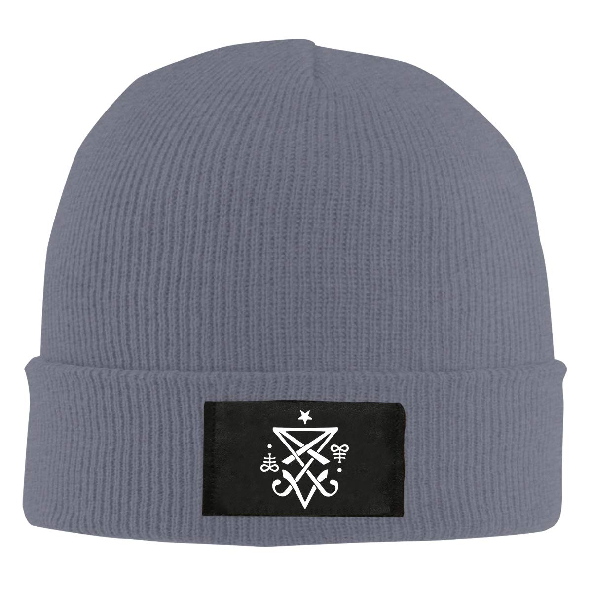 Occult Sigil of Lucifer Satanic1 Men Women Knitted Hat Stretchy Beanie Cap