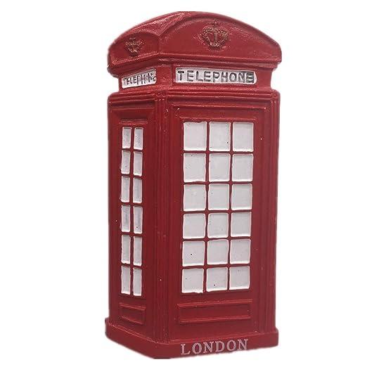 Weekinglo Souvenir Nevera Imán Rojo Caja de Teléfono Londres ...