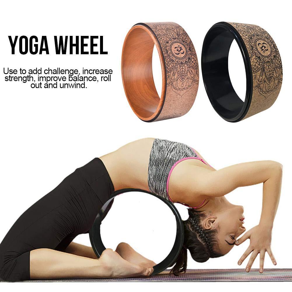 finelyty Rueda De Yoga, Prop De Yoga para Mejorar Las Flexiones Y Posturas De Yoga, Mejorando Tu Flexibilidad, Equilibrio Y Fuerza