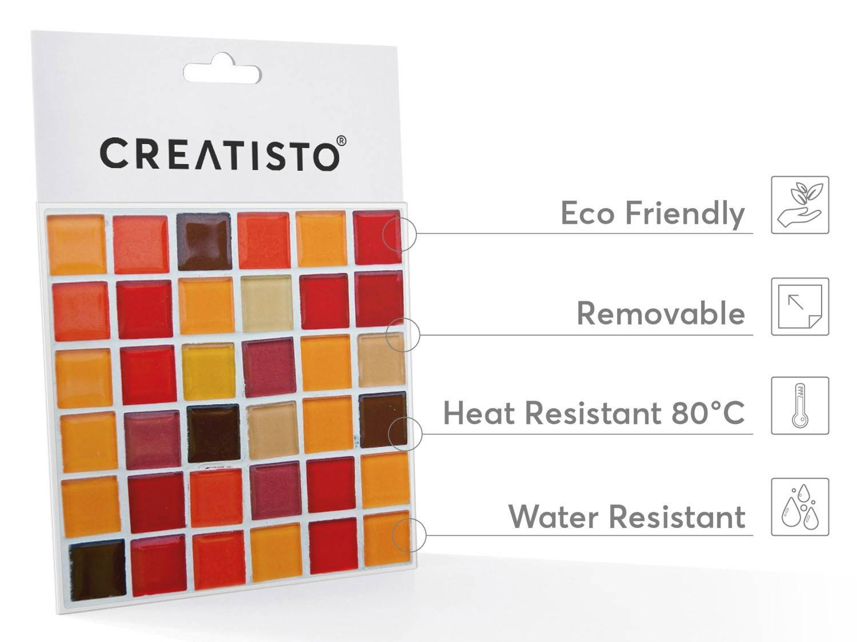 creatisto Mosaik Fliesensticker| Fliesenaufkleber zur Wandgestaltung ...