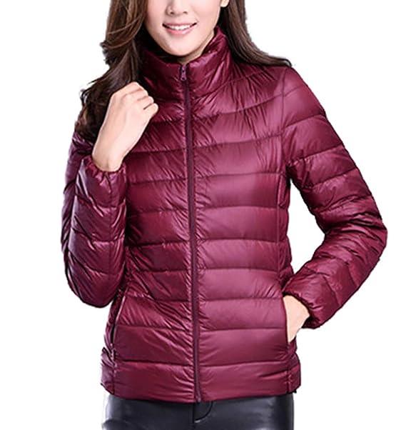 Amazon.com: WenHong - Abrigo de plumón para mujer, ligero ...