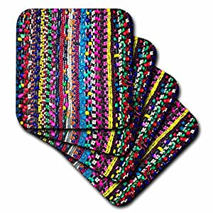 3dRose Image Of Colorful Beads Hanging In Stand In Oaxaca Mexico - Soft Coasters, set of 8 (cst_223042_2)