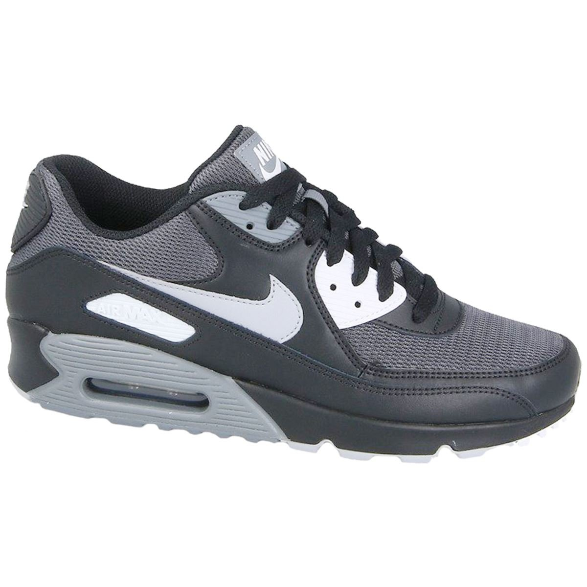 save off bd19c 2a42d Galleon - NIKE Mens Air Max 90 Essential Running Shoes Black Wolf Grey Dark  Grey AJ1285-003 Size 10