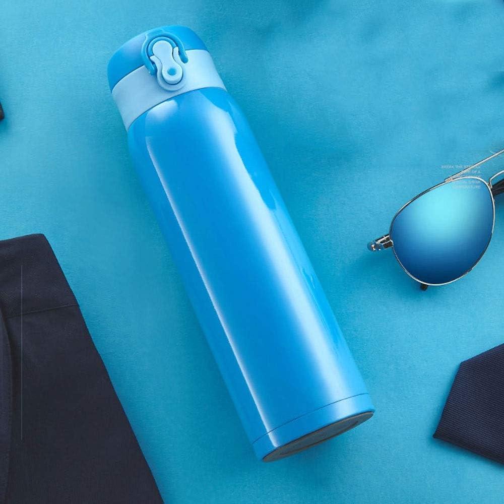 55度急速冷却カップ300ミリリットル、紫色の真空カップ、シリコン滑り止めカップ底、304ステンレススチール/ PP、サイズ:6.4 * 23.8 Cm 四季 (Color : Blue)