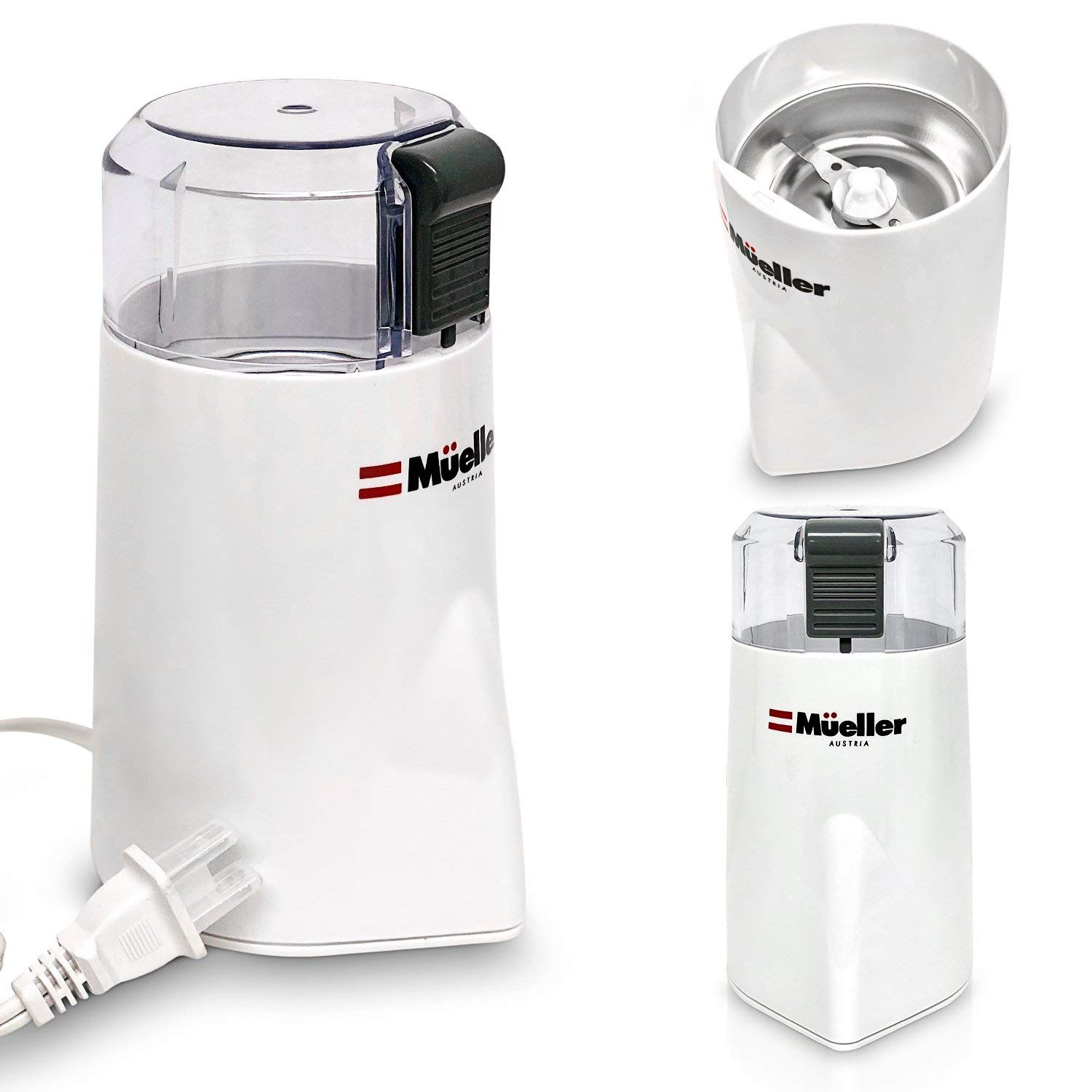 Mueller HyperGrind Precision Electric Coffee Grinder Mill with Large Grinding Capacity and HD Motor also for Spices, Herbs, Nuts, Grains and More by Mueller Austria (Image #4)