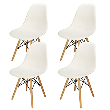 4 PCS Charles Eames Chair DSW Retro Eiffel Chairs For Dining Bedroom  Kitchen   UPGRADED To
