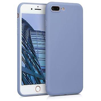 kwmobile Funda para Apple iPhone 7 Plus / 8 Plus - Carcasa para móvil en [TPU Silicona] - Protector [Trasero] en [Gris Lavanda Mate]