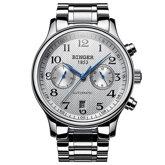 Mecanico Binger Impermeable Relojes Reloj HombreAutomatico Para xoedBC
