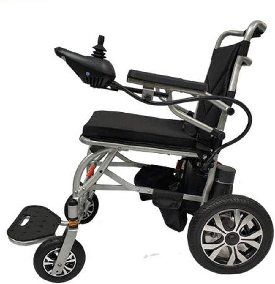 Tengda Intelligent Vehículo Eléctrico De Cuatro Ruedas, 36V Silla De Ruedas Eléctrica con Amortiguador Scooter De Plegado (Plata)