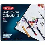 Derwent Collection Crayons aquarellables Boîte métal de 24 (Import Royaume Uni)