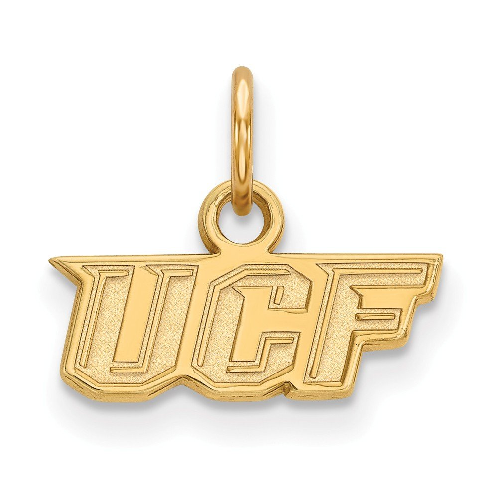 Jewel Tie 925 Sterling Silver with Gold-Toned University of Central Florida Extra Small Pendant