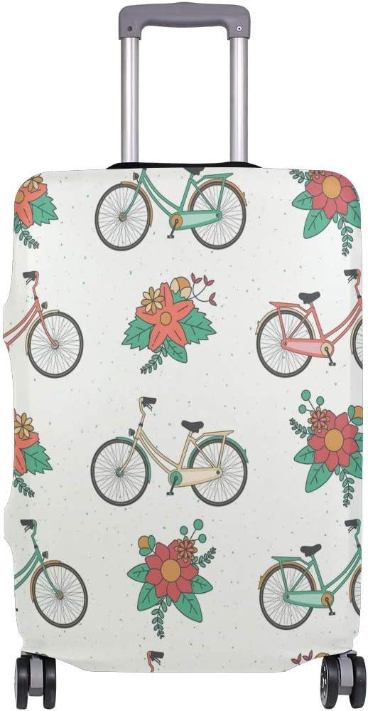ALINLO - Funda para Maleta de Bicicleta, diseño de Patten Floral, para Equipaje de Viaje, para 18-32 Pulgadas, Multicolor (Multicolor) - sdv6464sdb476: Amazon.es: Equipaje