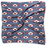 Nurses Hat With Love Heart Women's Fashion Print Square Scarf Neckerchief Headdress M