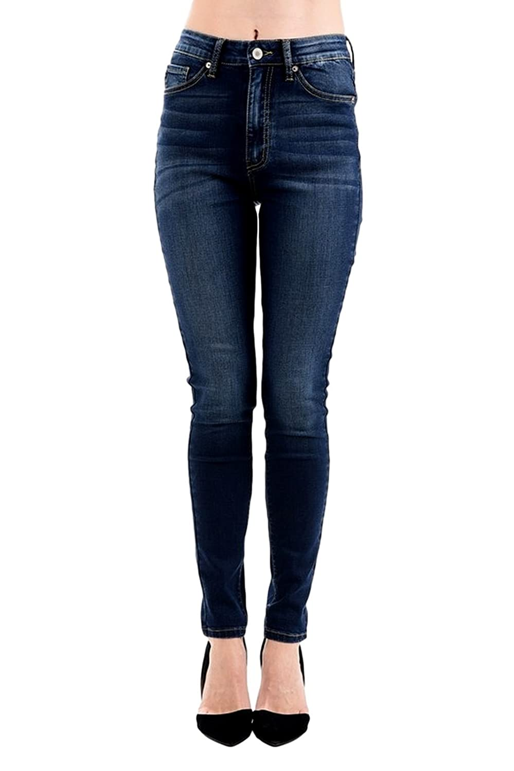 Kan Can Womens High Rise Skinny Jeans KC5039