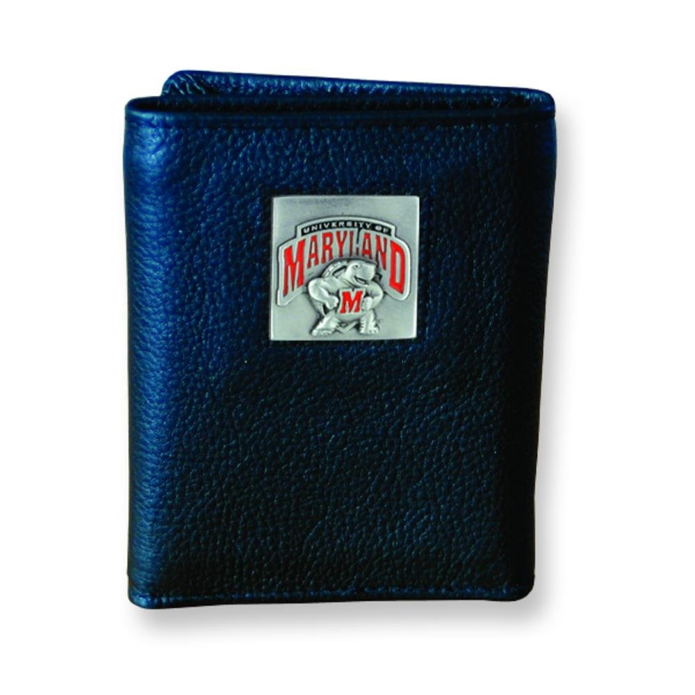 FindingKing University of Maryland Trifold Leather Wallet
