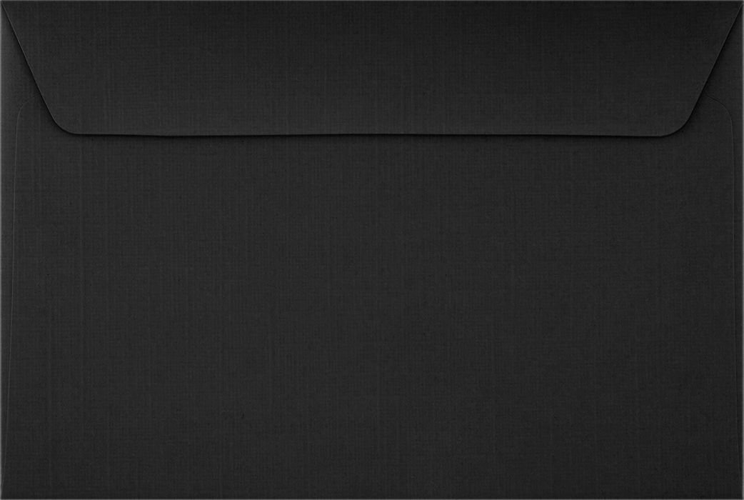 6 x 9 Booklet Envelopes - Black Linen (50 Qty) | Perfect for mailing Documents, Catalogs, Direct Mail, Promotional Material, Brochures and More| 4820-BLI-50 Envelopes.com