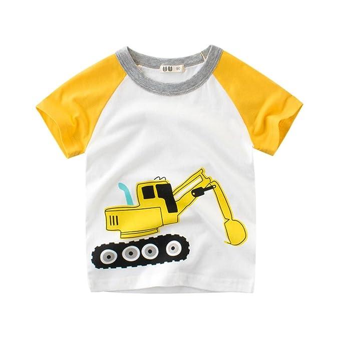 Amazon.com: pollyhb Baby Boy Girl T camisas, Summer Infant ...