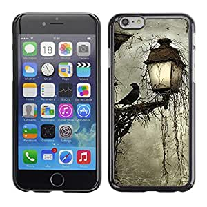 Caucho caso de Shell duro de la cubierta de accesorios de protección BY RAYDREAMMM - Apple iPhone 6 Plus 5.5 - Lamp Crow Somber Spooky Night