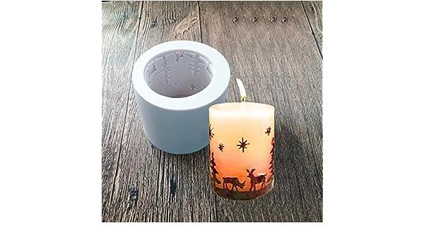 Moldes de silicona Arpoador para velas de Navidad, moldes de jabón, moldes para hornear, ideal para hacerte tú mismo velas, jabón y hornear: Amazon.es: ...