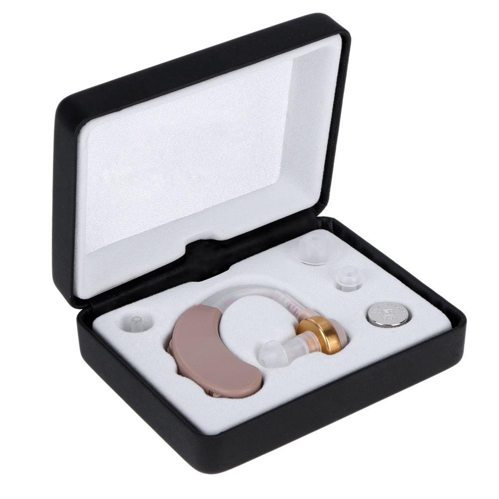 Appareil auditif amplificateur Home Vieux Homme Derrière l'oreille une Aide auditive avec ensemble de boîte