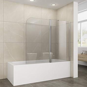 Elegant 120 X 140 Cm Duschabtrennung Für Badewanne, 2 Teilig Falttür