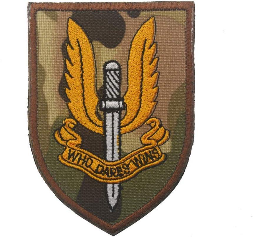SAS Who Dares WINS Tactical Patch 3 piezas parte trasera de cocina Parche t/áctico OYSTERBOY UK Special Air Service
