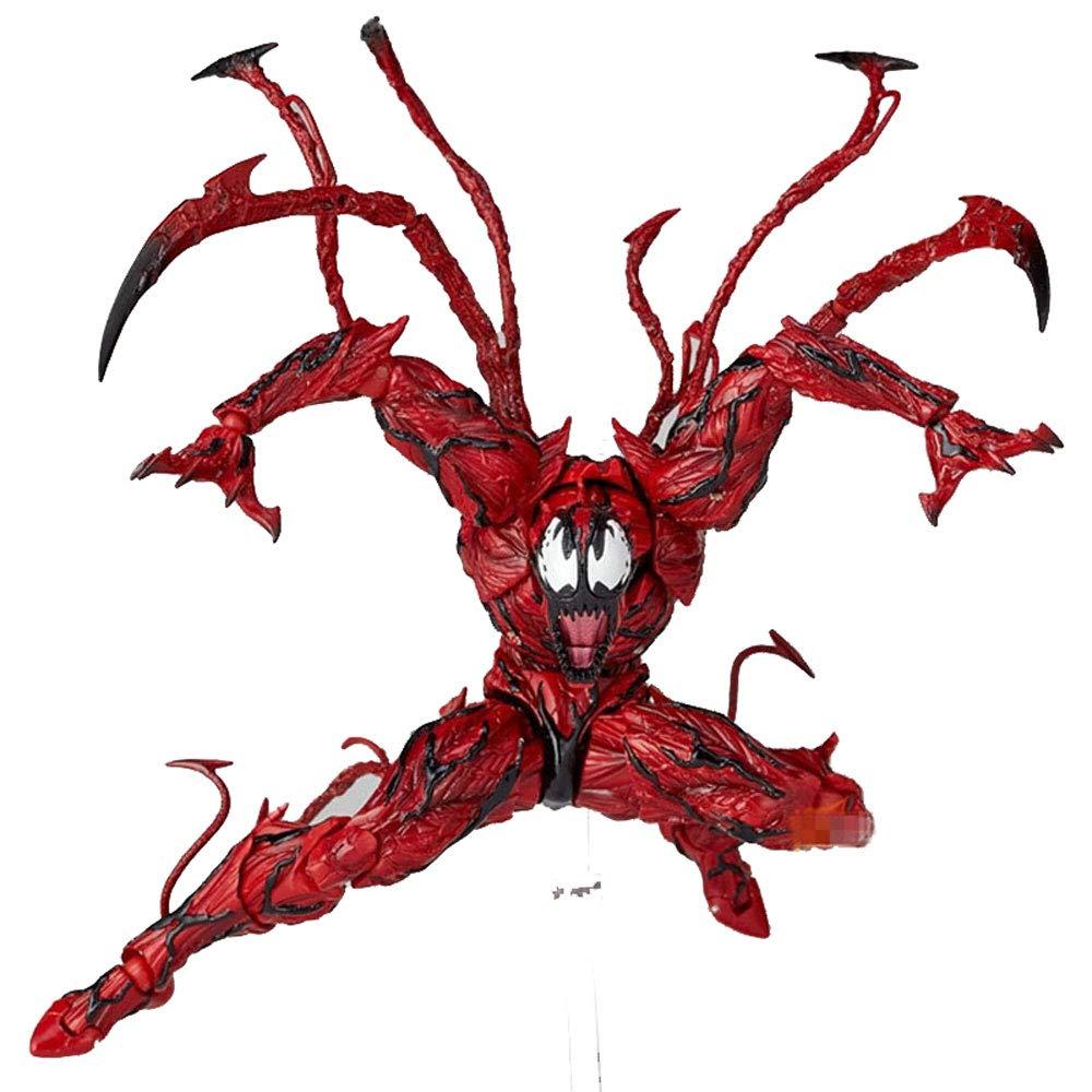 DS- Juguete Cletus Rojo Kasady Venom Carnage El Asombroso Spiderman Juguetes para héroe inverso BJD Caliente Figura de acción móvil Modelo Spiderman 16cm Alto