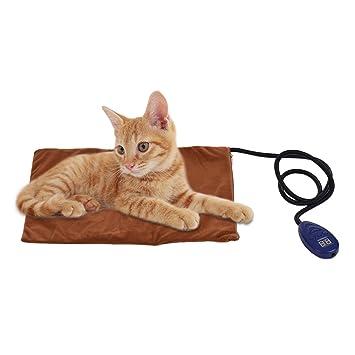 Decdeal - Manta Térmica para Mascotas con Cable Resistente a la Masticación Manta para Perros Gatos de 7 Temperaturas Ajustables (25~55) 12V Talla 40x30cm: ...
