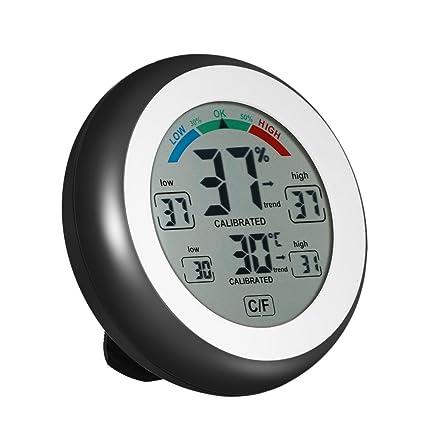 KKmoon °C/°F Digital Termómetro Higrómetro Temperatura Humedad Metro Max Min Valor Tendencia