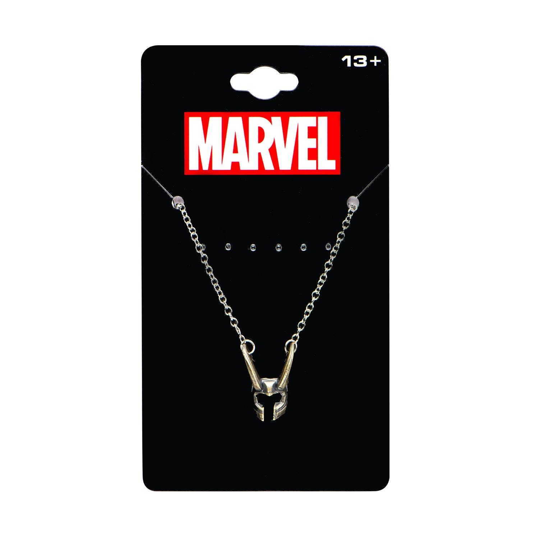 337706d6c Marvel Comics Unisex Adult Base Metal Loki Helmet Chain Pendant ...