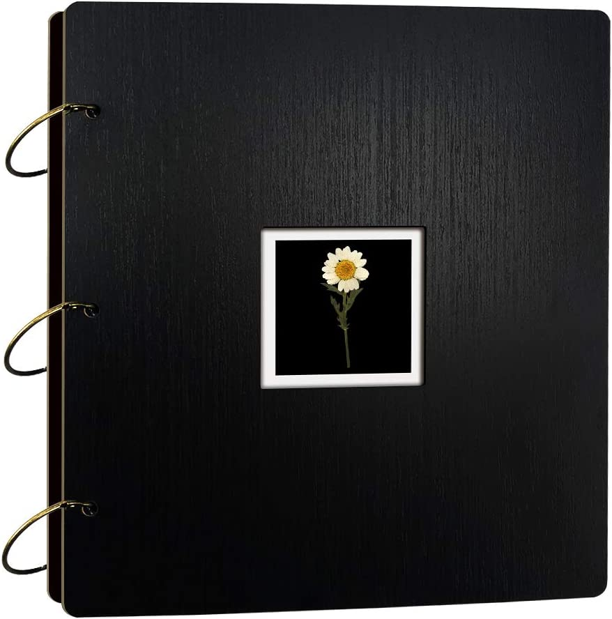Photo Albums 4x6 Hlods 500 Horizontal and Vertical Photos,Black Wooden Cover Phoho Book for Gift