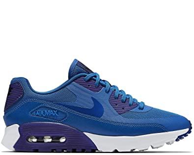new product 4fcf0 12ed2 Amazon.com   Nike Womens Air Max 90 Ultra Essential Blue Running Shoes  724981-401   Road Running