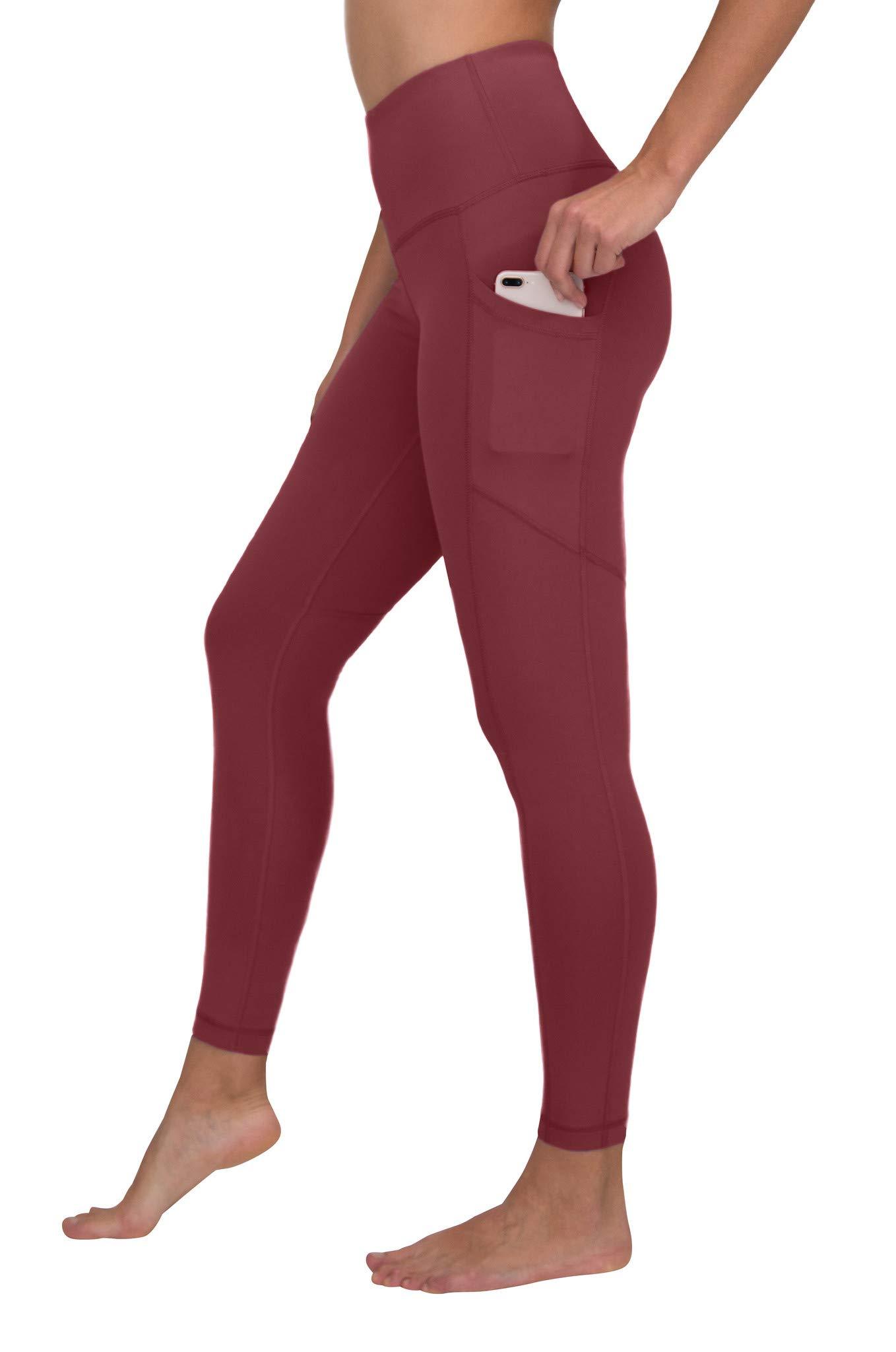 90 Degree By Reflex Women's Power Flex Yoga Pants - Rouge Blush - XS by 90 Degree By Reflex