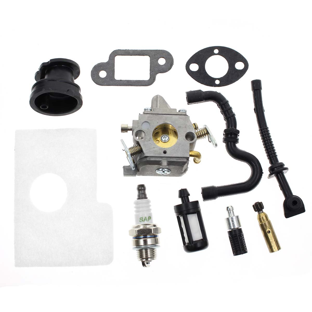 Carbhub MS170 Carburetor for Stihl MS170 MS180 017 018 Chainsaw with Air  Filter Fuel Oil Line Spark Plug, Replaces C1Q-S57 C1Q-S57A C1Q-S57B 1130  120