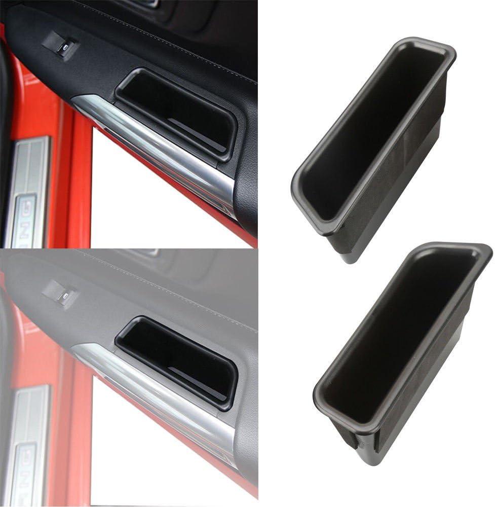 Mustang 2015/2016/2017/schwarz Front Row T/ür Seite Aufbewahrungsbox Griff Armlehne Handy Container/ /Paar
