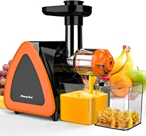 Juicer Machines, Keenstone Cold Press Juicer Machine, Reverse Function, BPA-Free, Slow Masticating Juicer, Easy to Clean with Brush for High Nutrient Fruit & Vegetable Juice, Quiet Motor juicer