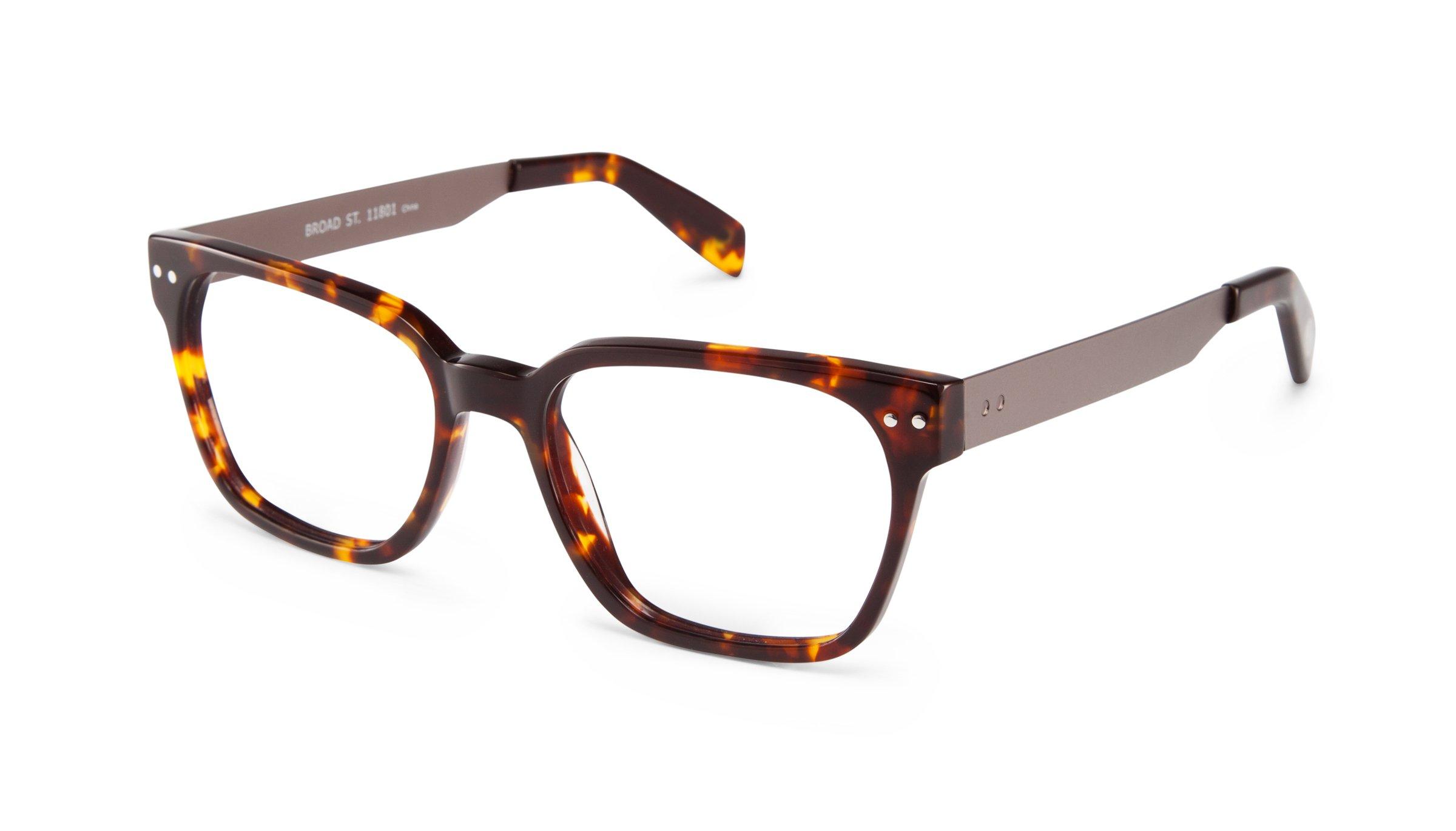 Scojo New York BROAD Street Tortoise/Gunmetal Reading Glasses (+1.75 Magnification Power)