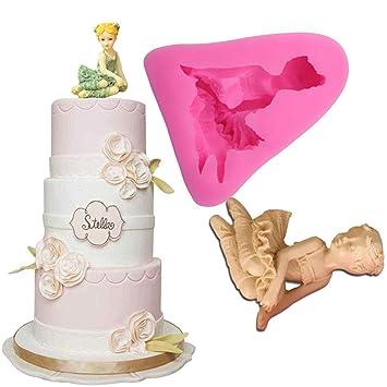 Anyana baile niña silicona para decorar con fondant molde decoración de pasteles pastelería repostería herramienta de cocina herramientas para pasta de ...
