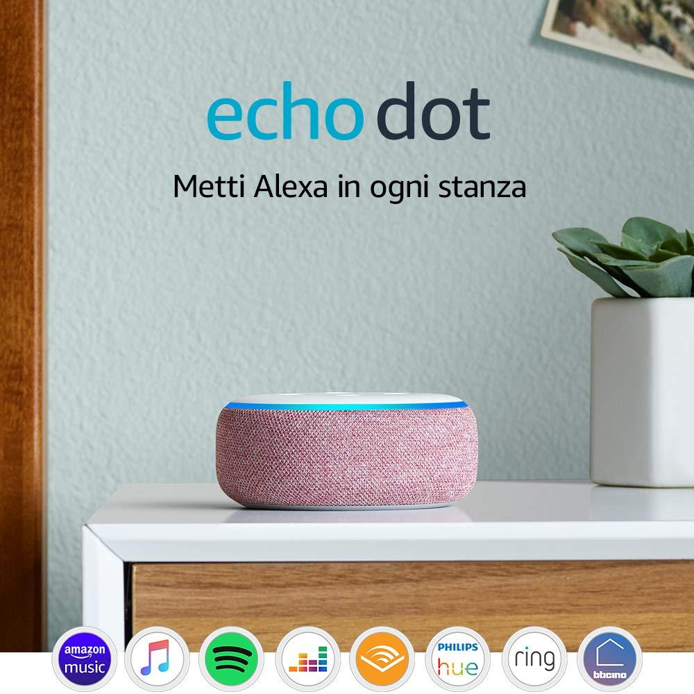 Echo Dot (3� generazione) - Altoparlante intelligente con integrazione Alexa - Tessuto malva: Amazon.it