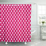 Pink and Purple Polka Dot Shower Curtain MAYTEC Shower Curtain Purple Antique Pink and White Tiny Polka Dots Bright Waterproof Polyester Fabric 72 x 72 inches Set with Hooks