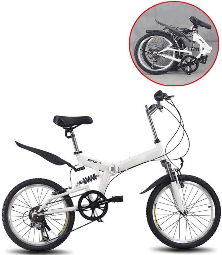 Grimk 20 Pulgadas Plegable De Aluminio Bicicleta De Paseo Mujer Bici Plegable Adulto Ligera Unisex Folding Bike Sillin Confort Ajustables,6 Velocidad,Capacidad 150kg: Amazon.es: Deportes y aire libre