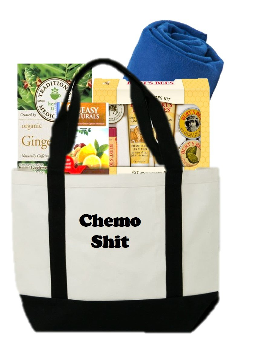 Something Perfect Gift for Cancer Patient Tote - Chemo Shit by Just Don't Send Flowers