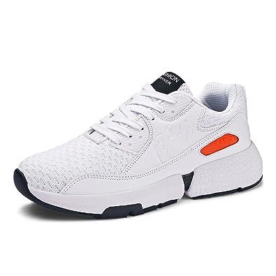 Zapatillas Running Hombre Deportivas Casual Zapatos Gimnasio Correr Sneakers Aire Libre y Deporte Transpirables Negro Gris Blanco 39-47: Amazon.es: Zapatos ...